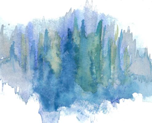 Trees in Watercolors